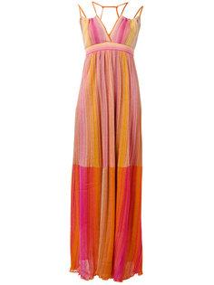 полосатое длинное платье  M Missoni