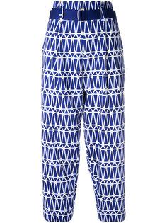 укороченные брюки с принтом Issey Miyake