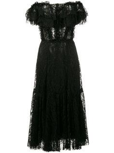 кружевное платье с открытыми плечами Dolce & Gabbana