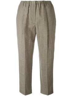 pinstripe cropped trousers Brunello Cucinelli