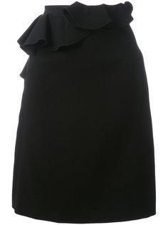 юбка с оборкой спереди Giambattista Valli