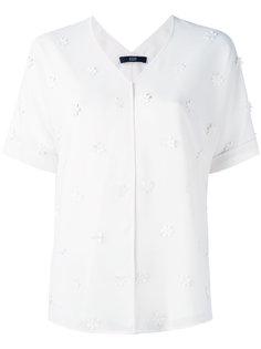 рубашка с цветочными украшениями Steffen Schraut