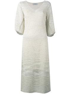 трикотажное платье с V-образным вырезом D.Exterior
