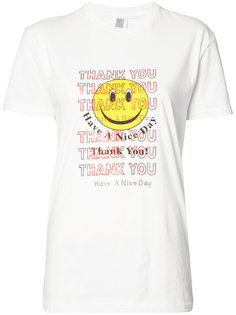 Thank You Smiley Face T-shirt Rosie Assoulin