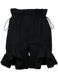 шорты с отделкой оборками Goen.J