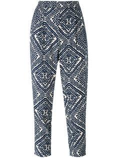 укороченные брюки с орнаментом Steffen Schraut