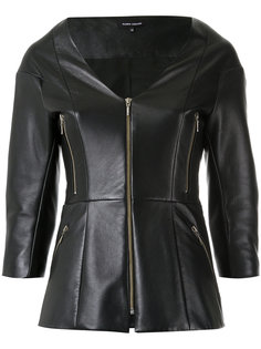 leather jacket Gloria Coelho