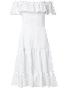 off the shoulder flared dress Isolda