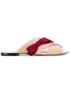 сандалии на плоской подошве  Fendi