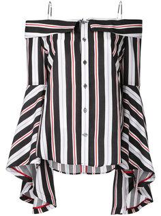 Stripe off shoulder blouse G.V.G.V.