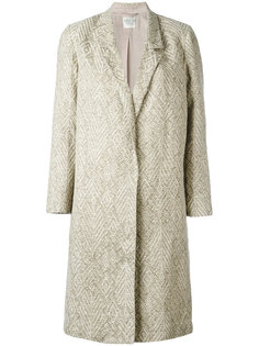 single-breasted jacquard coat  Forte Forte