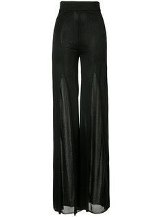 длинные брюки с прозрачными панелями Balmain