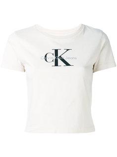 укороченная футболка с логотипом Calvin Klein Jeans