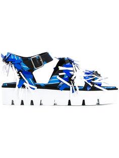 сандалии с абстрактным принтом  MSGM