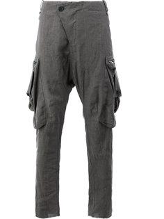 брюки с заниженным шаговым швом Masnada