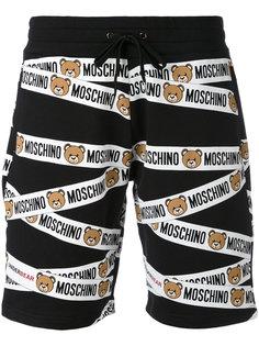 спортивные шорты с принтом плюшевого медведя  Moschino