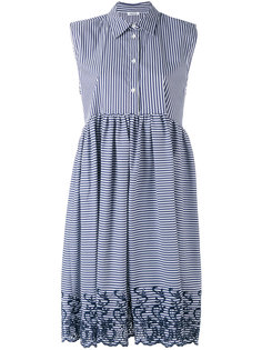 платье миди в полоску без рукавов  P.A.R.O.S.H.