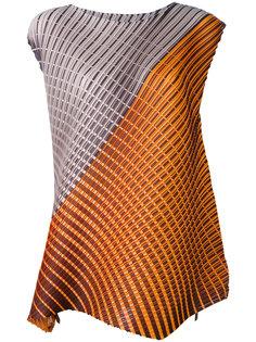 блузка без рукавов с геометрическим принтом Pleats Please By Issey Miyake
