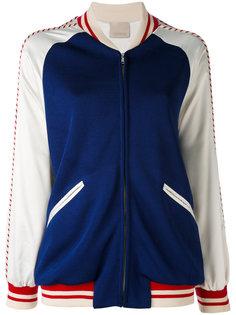 куртка-бомбер  с полосатой окантовкой  Laneus