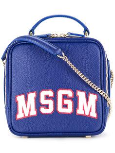 сумка через плечо с принтом логотипа MSGM
