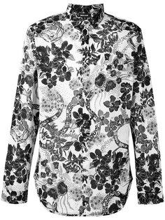рубашка с цветочным принтом Just Cavalli