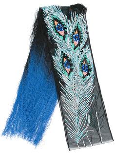 шарф с вышивкой из пайеток Rockins