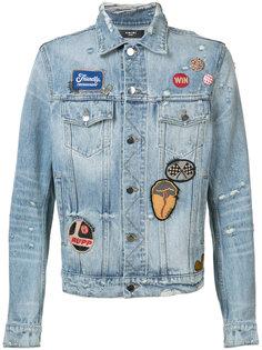 джинсовая куртка с вышивкой Amiri