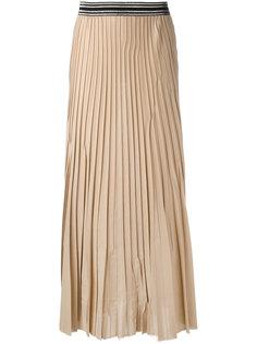 плиссированная юбка с эластичным поясом Nude