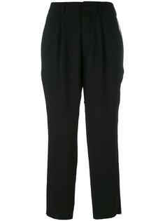 укороченные брюки с полосками по бокам Aviù