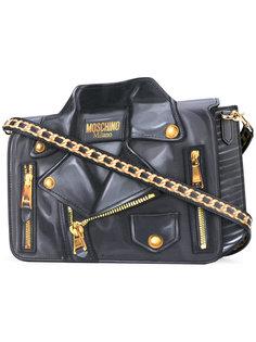 сумка на плечо с принтом байкерской куртки Moschino