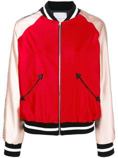 куртка-бомбер  с отделкой металлик Gaelle Bonheur