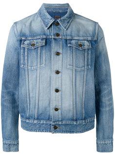 куртка с эффектом потертости Saint Laurent