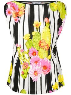 полосатая блузка с изображением кактусов Blugirl
