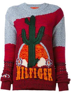 джемпер с принтом кактусов Hilfiger Collection
