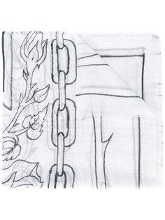 шарф с линейным узором Enfants Riches Deprimes