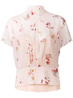блузка с цветочным узором Red Valentino