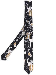 галстук с рисунком на тему музыки Dolce & Gabbana