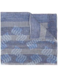 легкий полосатый шарф Giorgio Armani