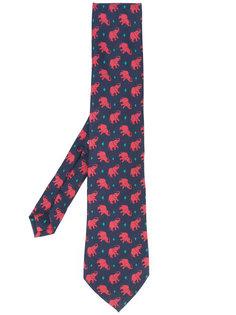 галстук с принтом слонов Etro