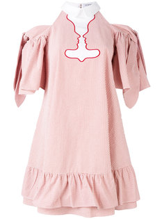 платье с открытыми плечами и оборками Vivetta
