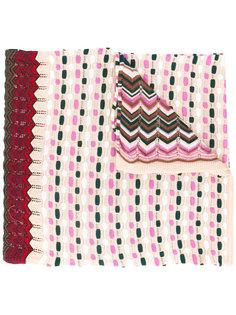 трикотажный шарф с полосатым узором Missoni