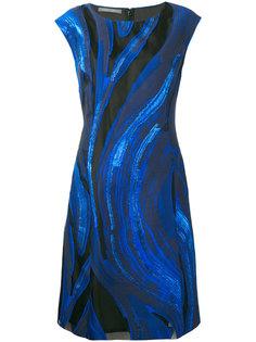 платье с узором Alberta Ferretti
