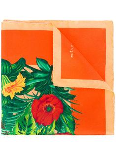 платок с растительным принтом Kiton