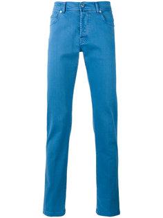 брюки кроя слим Kiton