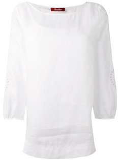 декорированная блузка с рукавами три четверти  Max Mara Studio