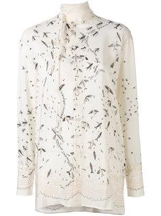 блузка с узором в виде рыб Valentino