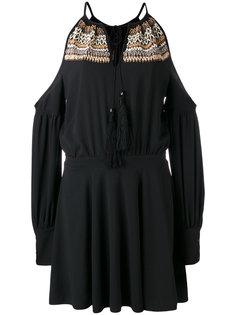 платье с открытыми плечами и бисером Wandering