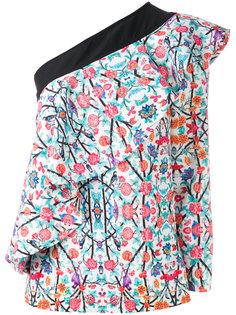 блузка с рюшами на одно плечо Miahatami