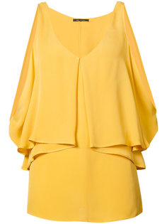 open shoulder draped blouse Kobi Halperin