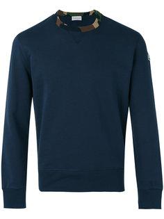 camouflage trim sweatshirt Moncler